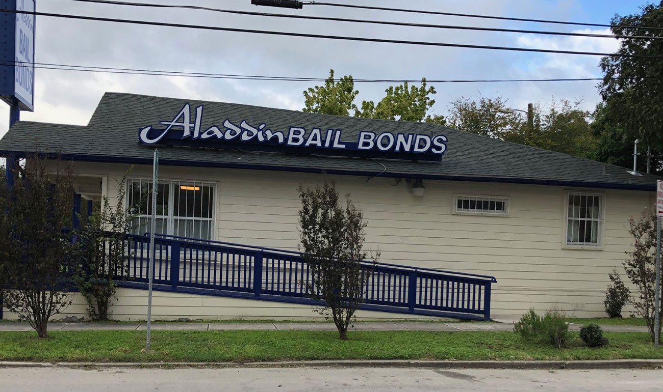 Aladdin Bail Bonds San Antonio Side Building Wheelchair Accessible